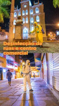 Itapetinga: Prefeitura realiza ação de desinfecção no centro comercial
