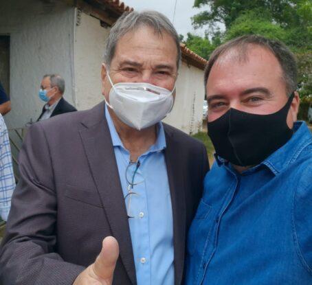 Vereador Luciano Almeida ao lado de César Halum Secretário de Política Agrícola do Mapa